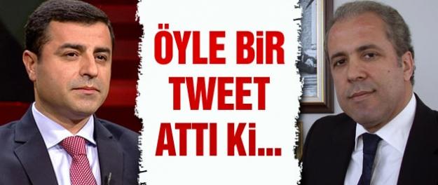 Şamil Tayyar'dan şok Selahattin Demirtaş tweeti