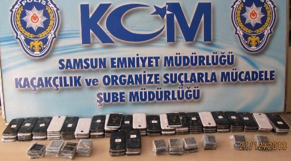 Samsun'da 328 Kaçak Cep Telefonu Ele Geçirildi