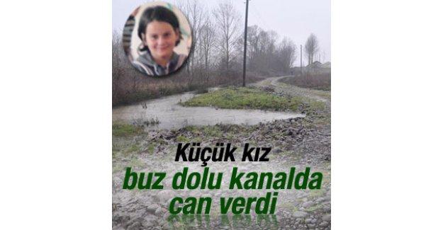 Samsun'da 9 yaşındaki küçük kız buzlu kanalda can verdi