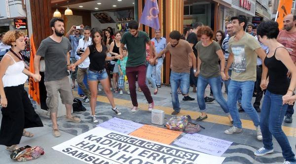 Samsun'da Müftüsü'ne Horon Protestosu