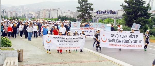 Samsun'da 'sağlıklı Yaşam' Yürüyüşü