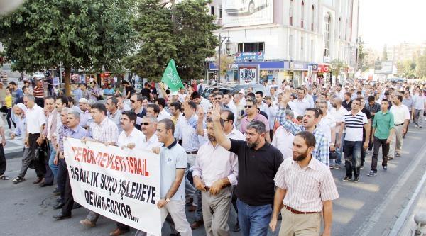 Şanliurfa Ve Adıyaman'da İsrail Protesto Edildi
