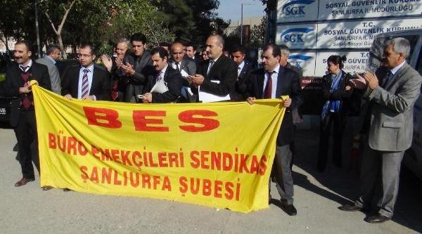 Şanliurfa'da Bes Üyelerinden Bütçe Eylemi
