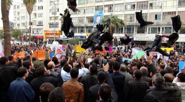 Şanliurfa'Da Fakibaba Taraftarlari Eylem Yapti