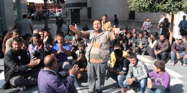 Şanliurfa'da Işportacilar Eylem Yapti