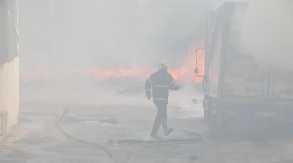 Şanliurfa'da Korkutan Yangın