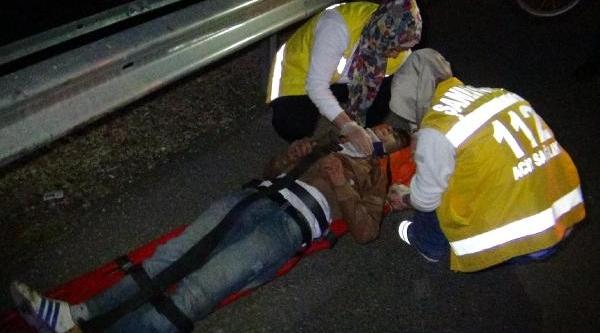 Şanliurfa'da Polisten Kaçan Motosikletli Kaza Yapti
