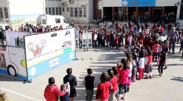 Şanliurfa'Da Polisten Öğrencilere Trafik Eğitimi