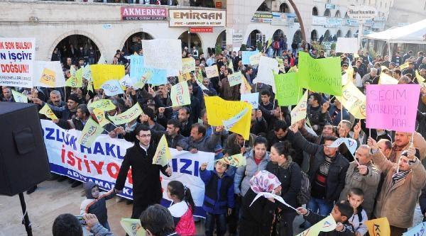 Şanliurfa'da Taşeron Işçilerden Eylem