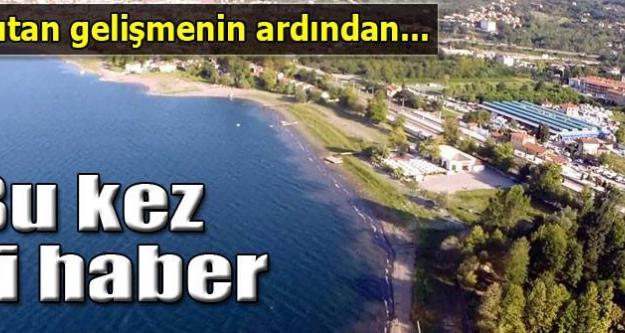 Sapanca Gölü'nden bu kez iyi haber
