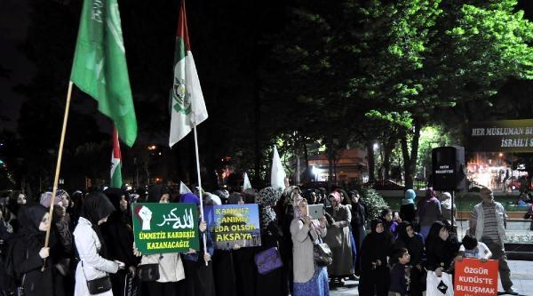 Saraçhane'de İsrail'in Kuruluş Yıldönümü Protesto Edildi