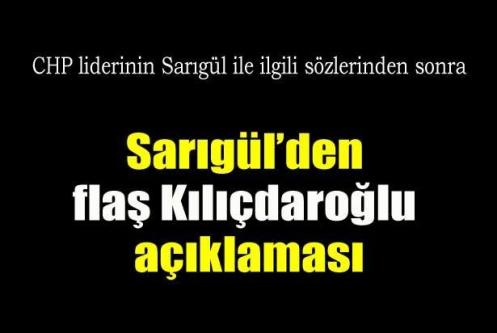 Sarıgül'den Kılıçdaroğlu'na destek