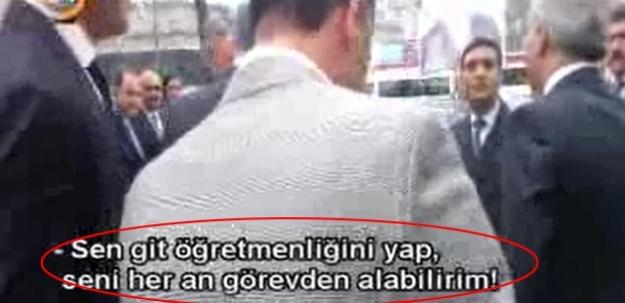 Sarıgül'ün ekibinden okul müdürüne hakaret ve tehdit!
