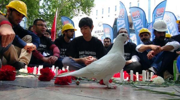 Sarısülük'ün Hayatını Kaybettigi Yere Karanfil Bırakıp, Beyaz Güvercin Uçurdular