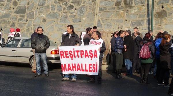 Sariyer'de Yüzlerce Kişilik 'mahalleme Dokunma' Eylemi