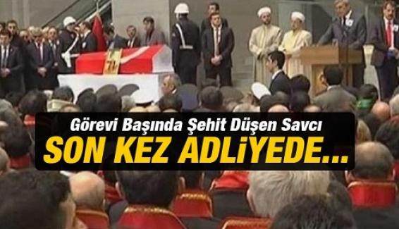 Şehit Savcı Mehmet Selim Kiraz'a hüzünlü tören