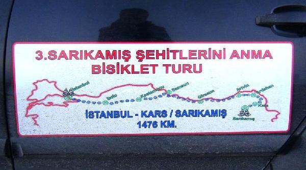 Şehitler Anisina Istanbul'dan Kars'a Pedal Çevirdiler