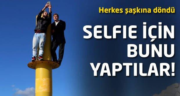 Selfie için bunu yaptılar! Herkes şaşkına döndü!