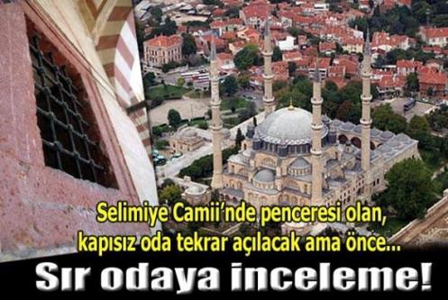 Selimiye Camii'nde kapısı örülen odaya inceleme