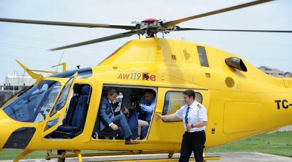 Şenol Güneş Bursa'ya Helikopterle Geldi