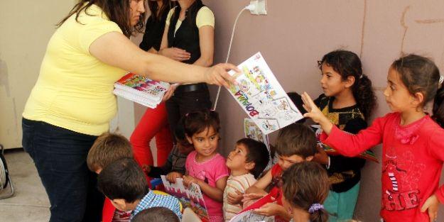 Seralar Arasında Eğitim Gören Çocuklara Yardım Eli