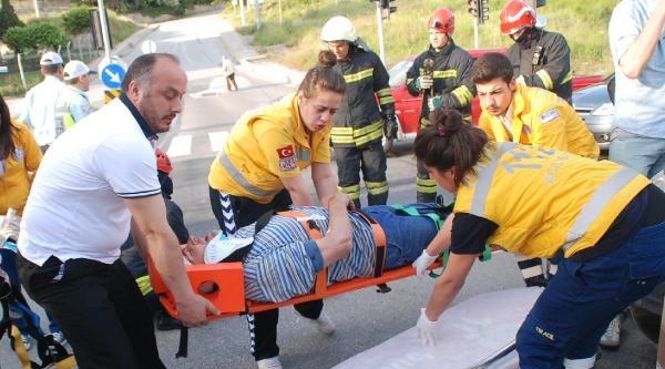 Servis Otobüsü Otomobille Çarpişti: 6 Yaralı