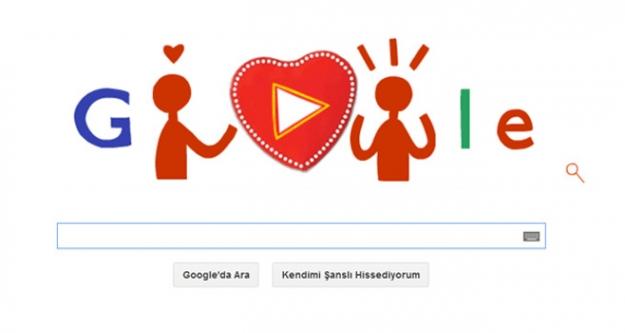 Sevgililer gününe özel Google Doodle!