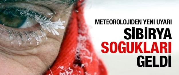 Sibirya soğukları geldi meteoroloji uyardı!