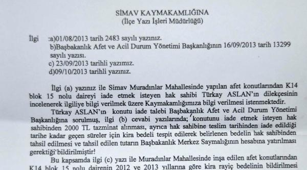 Simavli Depremzede Borçlu Çikti