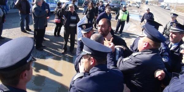 Sinirda Bulgar Polisi Ile Besiciler Arasinda Arbede