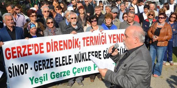 Sinop'ta 'nükleer Santrale Hayir' Eylemi