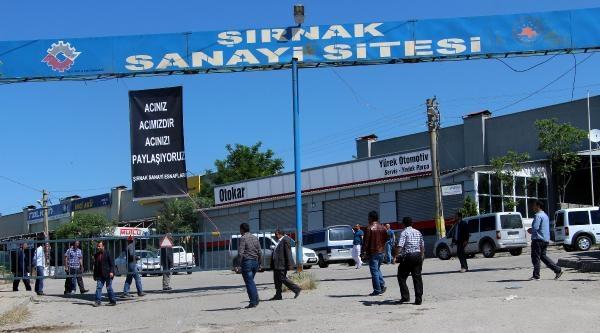 Şirnak Sanayi Sitesi Esnafı Soma İçin Kepenk Açmadı