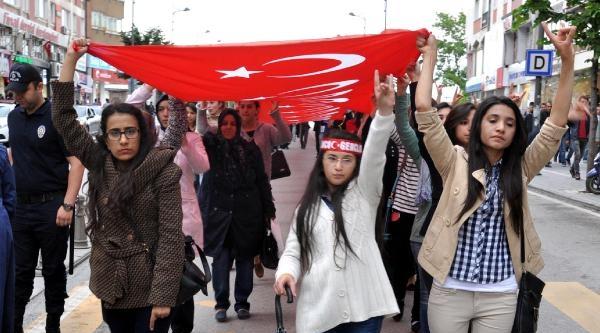 Sivas Ve Tokat'ta 'bayrağa Saygı' Yürüyüşü