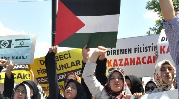 Sivas'ta İsrail Protestosu