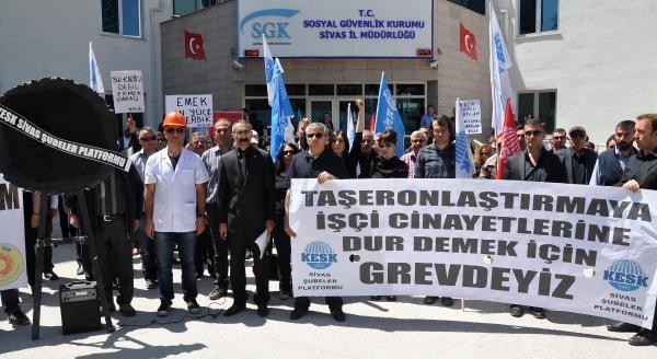 Sivas'ta Soma'daki Maden Faciasını Protesto Eylemleri