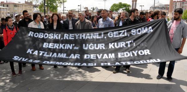 Sivas'ta 'uğur Kurt' Protestosu