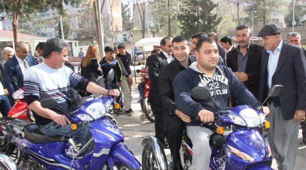 Siverek'te 109 Engelliye Motosiklet