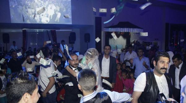 Siverek'te Düğünde Dolar Yağmuru