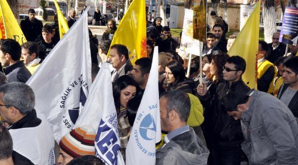 Siverek'te Kesk Üyelerinden Protesto Eylemi