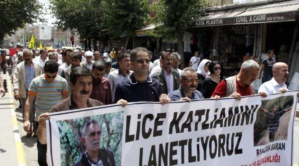 Siverek'te Lice'deki Olaylar Protesto Edildi
