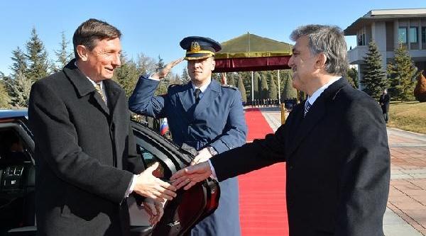 Slovenya Cumhurbaşkani Pahor Çankaya Köşkü'Nde