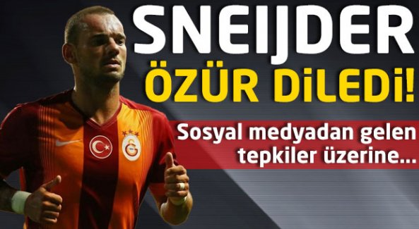 Sneijder özür diledi! İngiliz taraftarlar çıldırdı