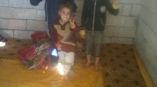 Soğuktan Donan Suriyelilere Betonarme Oda