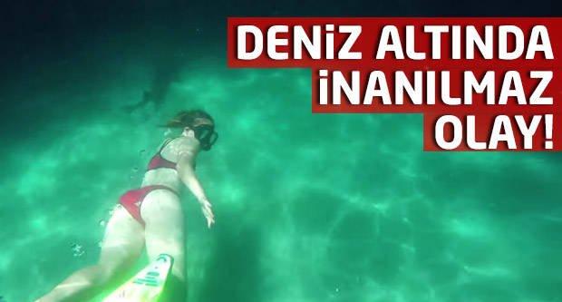Şok! Deniz altında inanılmaz olay! -İZLE