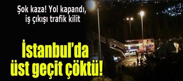 Şok kaza! Yol kapandı iş çıkışı trafik kilit!
