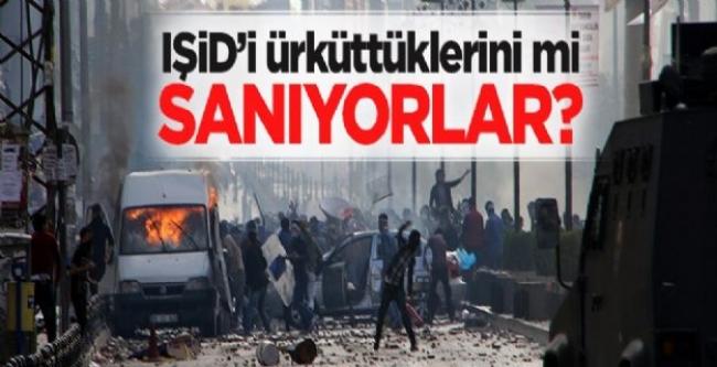Sokak hareketleriyle IŞİD'i ürküttüklerini mi sanıyorla