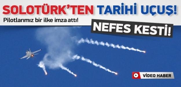 Solotürk'ten tarihi uçuş ...