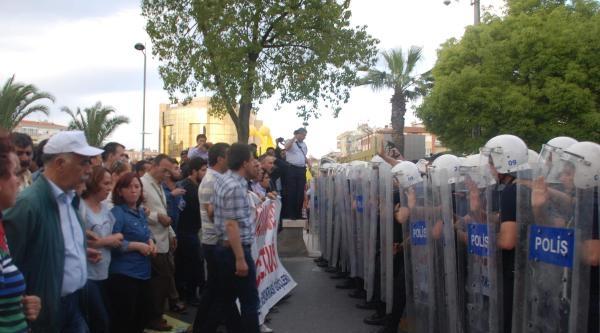 Soma Eylemcilerine Aydın'da Polis Müdahalesi