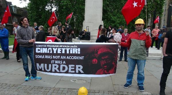 Soma Faciası Londra'da Protesto Edildi