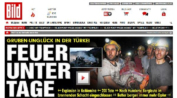 'soma Felaketi' Alman Basınında İlk Haber